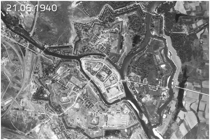 Аэрофотосъемка Брестской крепости за год до начала войны