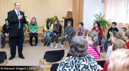 Делегация Рижской белорусской школы в Бресте