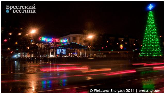 Открытие главной новогодней елки на пл. Ленина