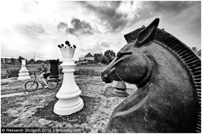 Шахматные фигуры около ЦМТ