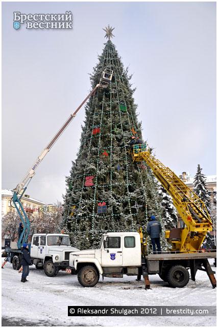 Открытие главной Новогодней елки Бреста пройдет на площади Ленина 15 декабря