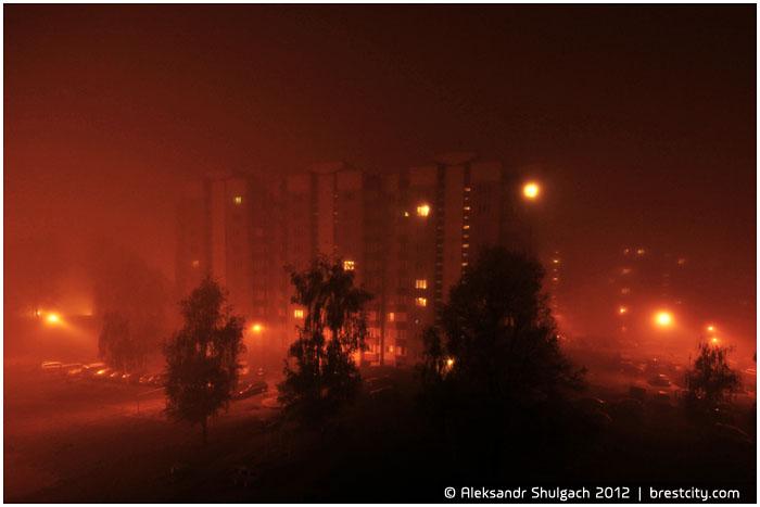 Ночной туман в Бресте