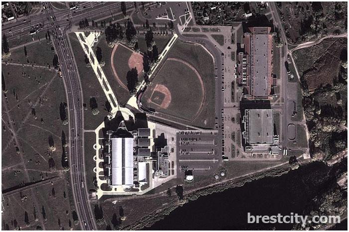 Карта Бреста от Google Maps