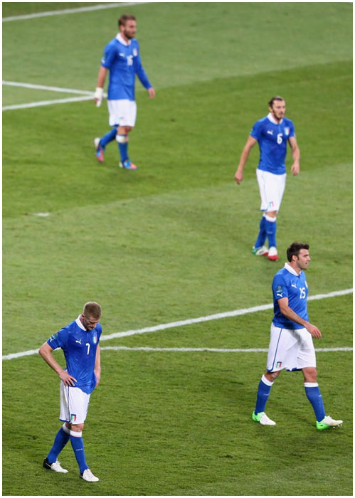 Сборная Италии проиграла Испании в финале Чемпионата Европы 2012