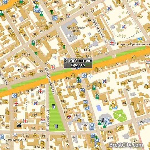 Электронная карта Бреста