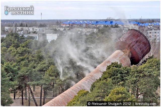 Подрыв водонапорной башни в Южном