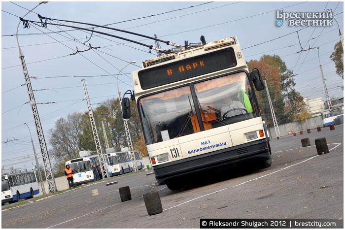 Скоростное маневрирование троллейбусов в Бресте