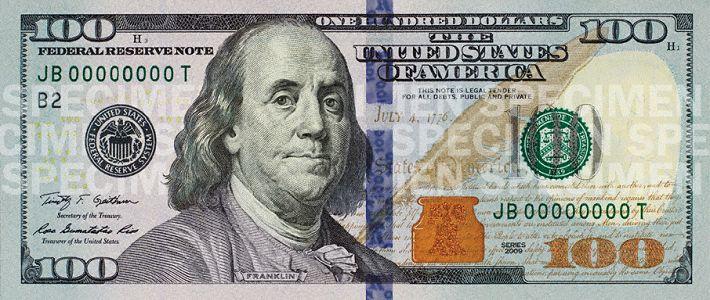 Новая стодолларовая купюра США