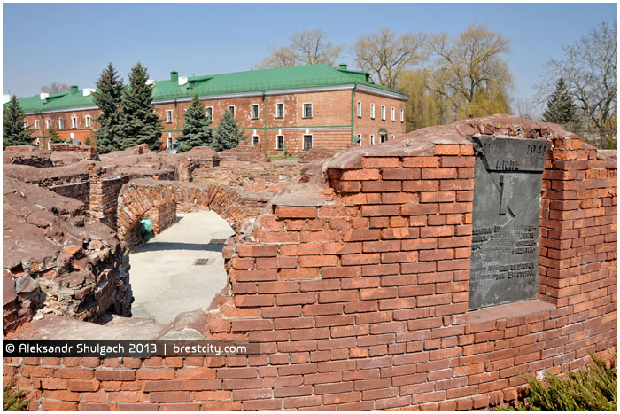 Руины Белого дворца в Брестской крепости