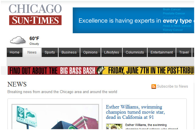 Американская газета Chicago Sun-Times