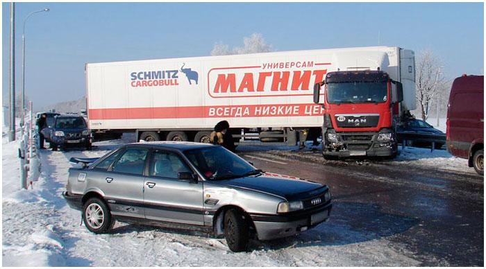 Возле Федькович столкнулись 23 машины