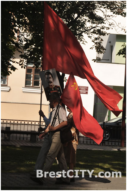 Флаг советского союза в Бресте