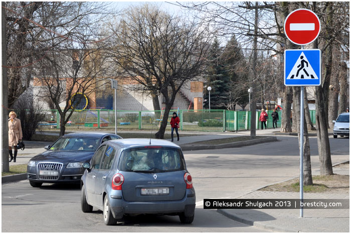 Улица Халтурина в Бресте стала с одностороннем движением