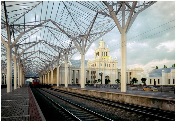 Макет реконструкции Брестского жд вокзала