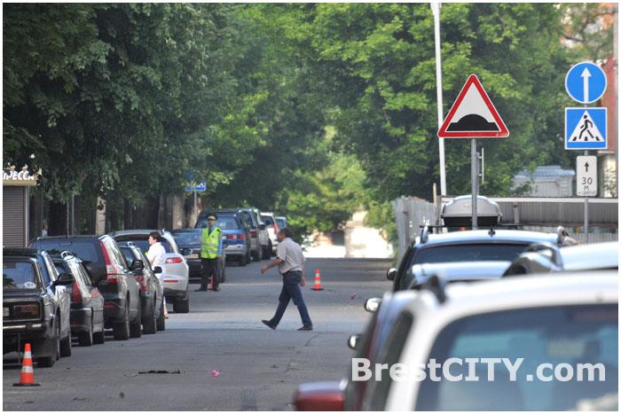 Улица Маяковского в Бресте с односторонним движением