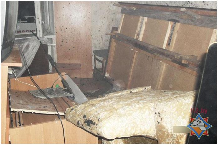 Пожар в Бресте на проспекте Машерова 24.10.2013