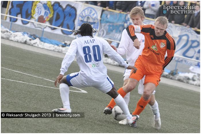 Динамо Брест - Шахтер. Футбол 8 апреля 2013