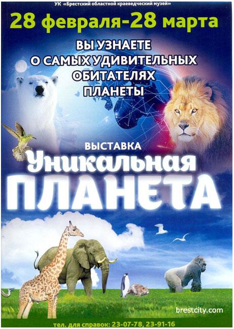 """Выставка """"Уникальная планета"""" в Брестском краеведческом музее"""
