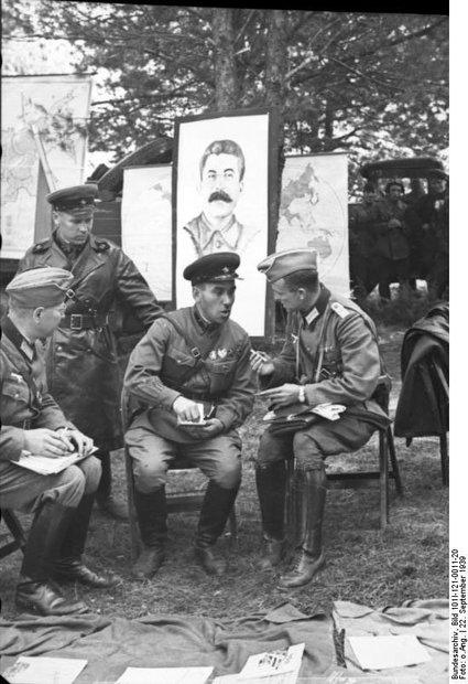 Немецкие и советские офицеры в Западной Беларуси