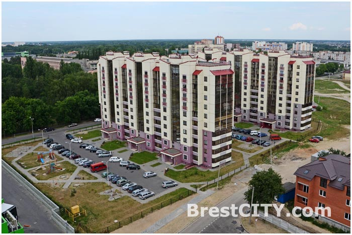 Фотографии Бреста в высоты 14 этажа дома на Советской конституции и улицы Московской