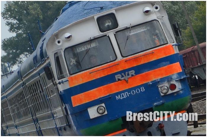 Поезд Брест-Заболотье. Беларусь-Украина