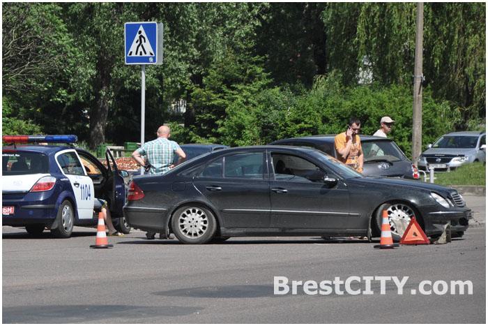 ДТП возле Кобринского моста в Бресте 23.05.2014
