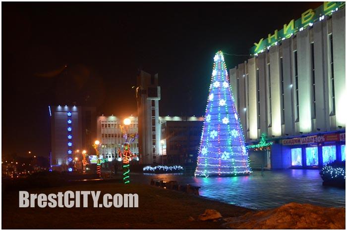 Новогодняя елка в Бресте возле ЦУМа