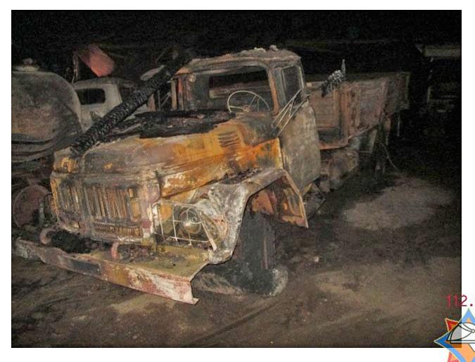 Пожар в гаражах психбольницы Могилевцы Пружанского района