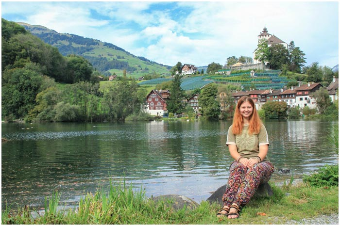 Озеро в г. Букс, Швейцария