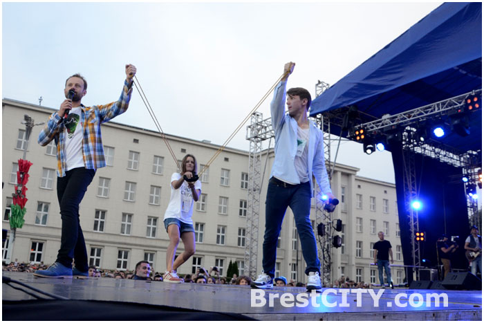 Концерт на площади Ленина.