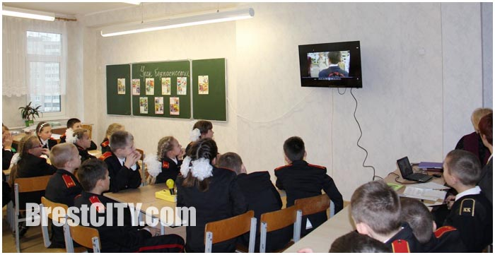 Кабинет ГАИ по изучению правил дорожного движения в 35 школе в Бресте на Ковалево