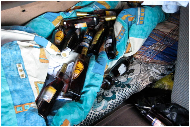 На границе изъяли 29 бутылок коньяка