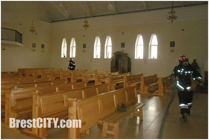 Учения МЧС в Бресте. Костел Святого Иосифа