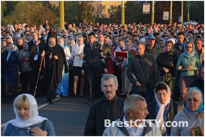 Крестный ход в Бресте 18 сентября 2014