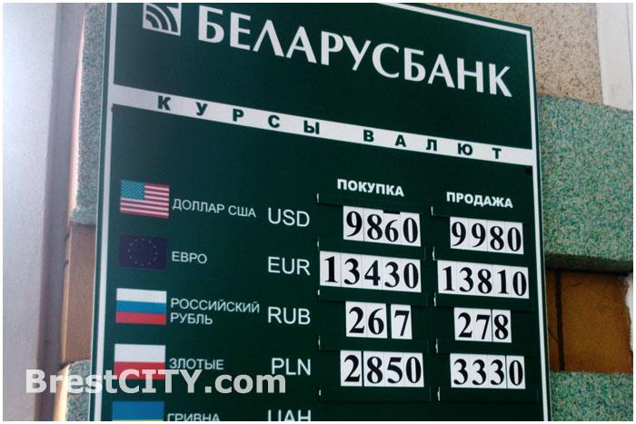 Курс доллара в Беларусбанке