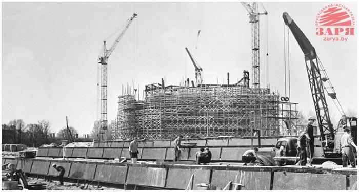 Строительство мемориального комплекса Брестская крепость-герой