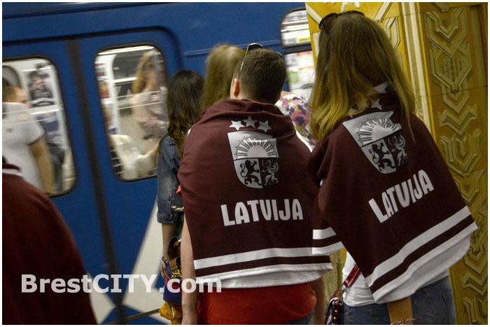 Латвийские болельщики на чемпионате мира по хоккею в Минске