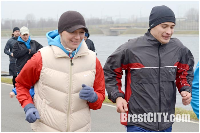 Берестейсий забег с Юлией Нестеренко в Бресте на Гребном