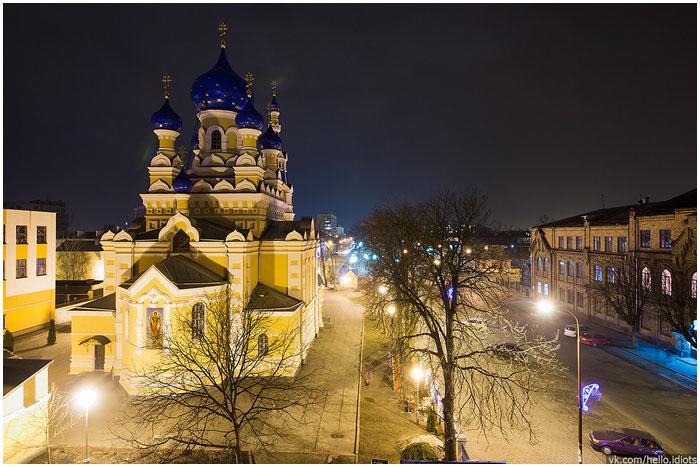 Ночной Брест. Улица Мицкевича