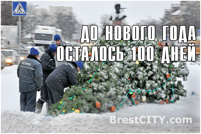 Брест. До нового года осталось 100 дней