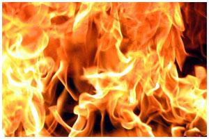 Пожар в доме на Воровского