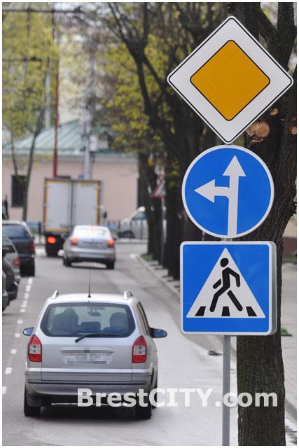 Запрещен поворот направо с ул.Комсомольской на ул.Маяковского
