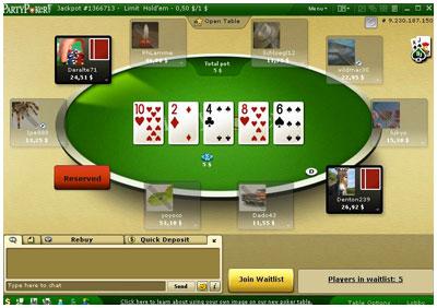 Игра в покер «PartyPoker»