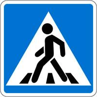 Дорожный знак. Пешеходный переход