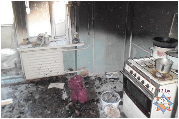 Пожар в квартире на Бульваре Космонавтов в Бресте 4 апреля 2014
