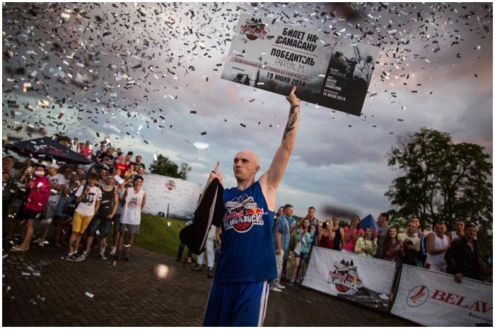 Максим Радчук победитель турнира по стритболу Король горы