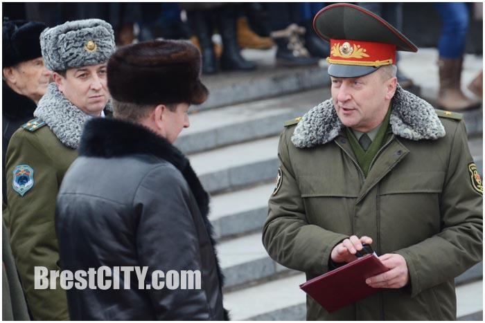 Мэр Бреста Рогачук погоны полковник