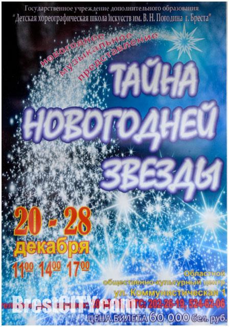 Новогоднее представление в Бресте. Тайна новогодней звезды