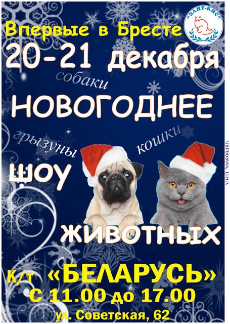 Новогоднее шоу животных в Бресте 20-21 декабря
