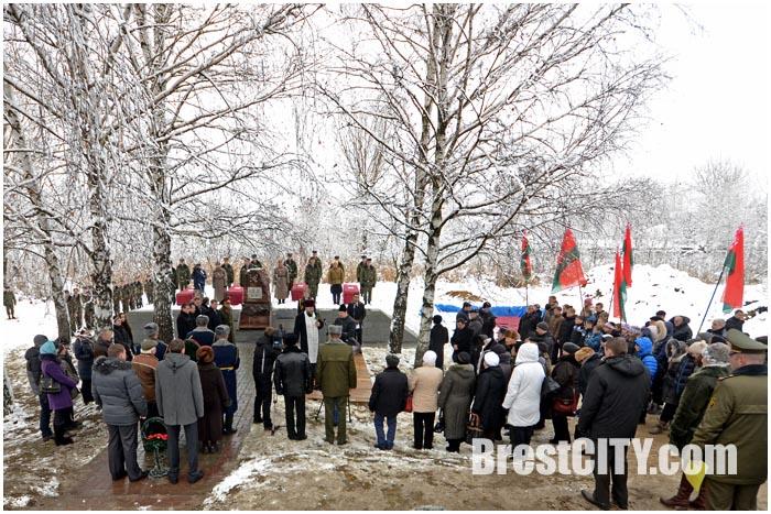 Церемония перезахоронения останков военнопленных в Бресте 20.11.2014